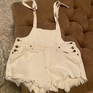 Free People We The Free Denim shorts/overalls 26